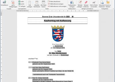 Microsoft Word mit Notastic Symbolleiste